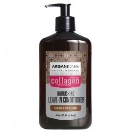 Arganicare Balsam fara clatire cu colagen pentru par subtire, deteriorat si fragil, 400 ml