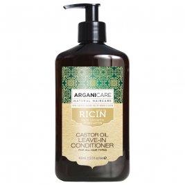 Arganicare Balsam fara clatire ultra-hidratant cu ulei de ricin pentru toate tipurile de par 400 ml