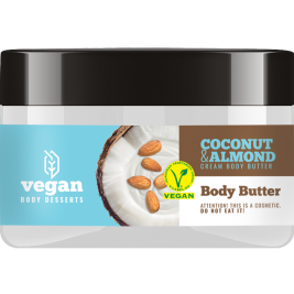 CECE Vegan Desserts - Unt de corp vegan hidratant cu Cocos si Migdale 250ml