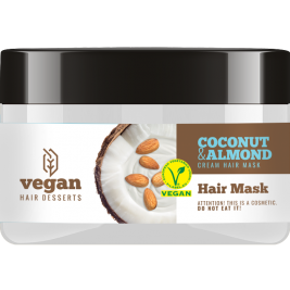 CECE Vegan Desserts - Masca vegana cu Cocos si Migdale pentru par uscat si degradat 250ml